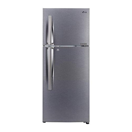 LG 260 L 2 Star Inverter Frost-Free Double-Door Refrigerator (GL-N292RDSY, Jet Ice, Dazzle Steel)