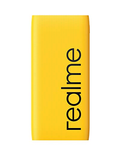 realme 10000mAh 12W Quick Charge Li-Polymer Power Bank 2i (Yellow, Slim Design, Dual Input Ports)