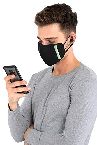 Unisex Reusable Outdoor Protection 6 layer Triple filteration Free Size Face Mask with Bluetooth headset