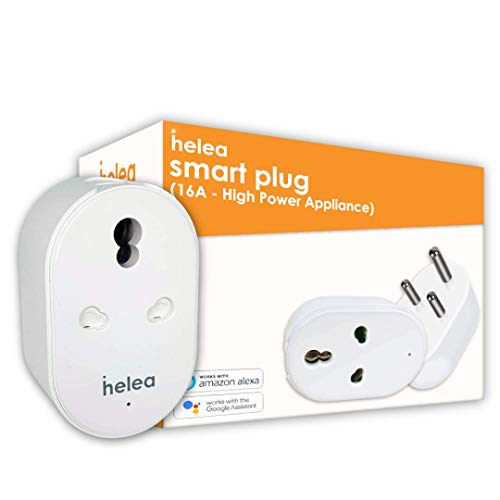 Helea 16A Wi-Fi Smart Plug (Type M), for High Power Appliances (AC, Geyser, Motor, etc.) Energy Monitoring, Compatible with Alexa & Google Assistant