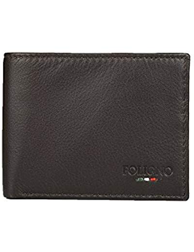 FOLIGNO GENUINE LEATHER WALLET FOR MEN'S (BROWN)