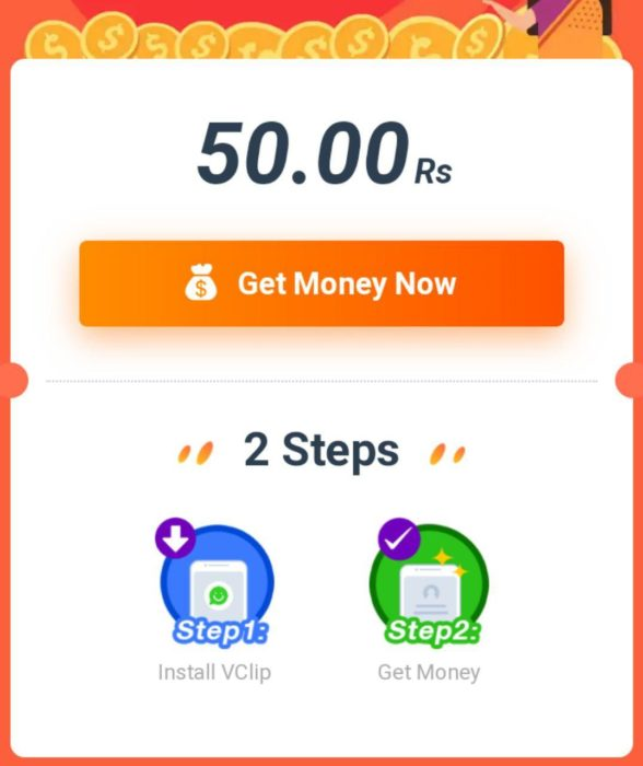 VClip App Refer And Earn Paytm