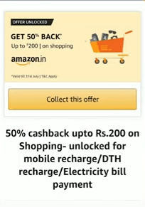 Amazon Collect Recharge Offer