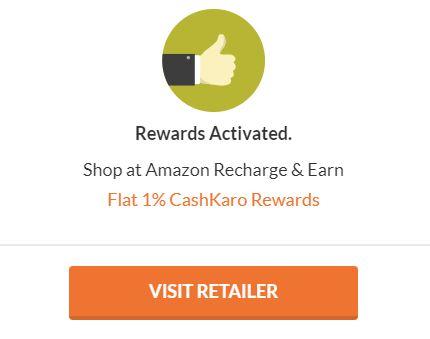 cashkaro amazon visit retailer