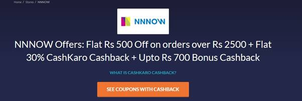 Cashkaro NNNow Offer