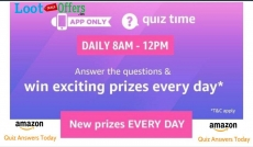 Amazon Quiz Answers Today» Answer the Questions and Win Apple Watch [21st Feb 2019]