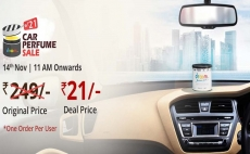 (Sale Live) Droom Car Perfume Next Sale Date 2019 : Buy Droom Car Perfume at Rs.21/- Only