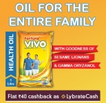 Lybrate Fortune VIVO Oil Offer Free Sample – Get 1L Fortune Vivo Oil for Free [MRP Rs.150]