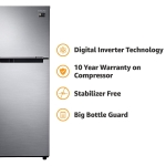 Samsung 253 L 2 Star Frost Free Double Door Refrigerator( Elegant Inox, Inverter Compressor) At Rs.19,590 From Amazon