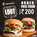 Swiggy Free Food – Get Food Worth Rs. 200 For Free   For all Users